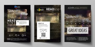 Business templates for brochure, magazine, flyer, annual report. Cover design template, vector layout in A4 size. Business templates for brochure, magazine royalty free illustration