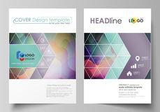 Business templates for brochure, magazine, flyer, booklet or annual report. Cover design template, flat vector layout in Royalty Free Stock Photography