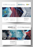 Business templates for brochure, magazine, flyer, booklet or annual report. Cover template, flat layout in A4 size Stock Image