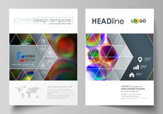 Business templates for brochure, magazine, flyer, booklet or annual report. Cover template, flat vector layout in A4 Royalty Free Stock Photo
