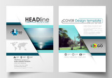Business templates for brochure, magazine, flyer, booklet. Cover design, abstract flat style travel decoration layout in. A4 size, easy editable vector template Royalty Free Stock Photo