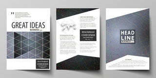 Business templates for brochure, magazine, flyer, booklet. Cover design template Stock Photography