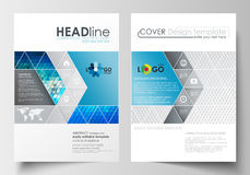 Business templates for brochure, magazine, flyer, booklet. Cover design template, easy editable blank, flat layout in A4 Stock Images