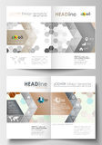 Business templates for brochure, magazine, flyer, booklet. Cover design template, easy editable blank, flat layout in A4. Business templates for brochure Stock Images