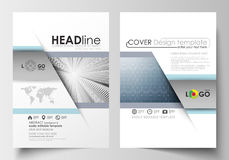 Business templates for brochure, magazine, flyer, booklet. Cover design template, easy editable blank, flat layout in A4 Stock Photography