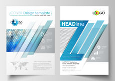 Business templates for brochure, magazine, flyer, booklet. Cover design template, easy editable blank, flat layout in A4 Royalty Free Stock Photos