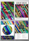 Business templates for brochure, magazine, flyer, booklet. Cover design template, vector layout in A4 size. Colorful. Business templates for brochure, magazine Royalty Free Stock Image