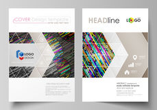 Business templates for brochure, magazine, flyer, booklet. Cover design template, vector layout in A4 size. Colorful Royalty Free Stock Photo