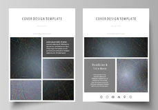 Business templates for brochure, magazine, flyer, booklet. Cover design template, vector layout in A4 size. Colorful. Business templates for brochure, magazine stock illustration
