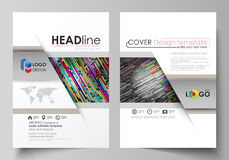 Business templates for brochure, magazine, flyer, booklet. Cover design template, vector layout in A4 size. Colorful Stock Photography