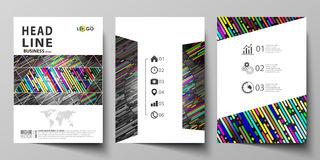 Business templates for brochure, magazine, flyer, booklet. Cover design template, vector layout in A4 size. Colorful Stock Photo