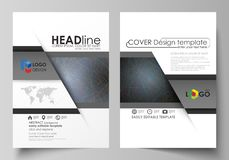 Business templates for brochure, magazine, flyer, booklet. Cover design template, vector layout in A4 size. Colorful. Business templates for brochure, magazine royalty free illustration