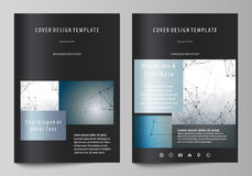 Business templates for brochure, magazine, flyer, booklet. Cover design template, vector layout in A4 size. DNA and Royalty Free Stock Photography