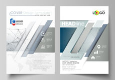 Business templates for brochure, magazine, flyer, booklet. Cover design template, vector layout in A4 size. DNA and. Business templates for brochure, magazine Royalty Free Stock Image