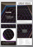 Business templates for brochure, magazine, flyer, booklet. Cover template, vector layout in A4 size. Abstract polygonal Stock Images