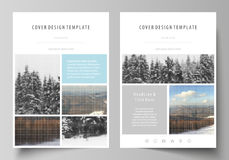 Business templates for brochure, magazine, flyer, booklet, report.   Stock Photos