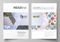 Business templates for brochure, magazine, flyer, booklet, report. Cover design template, abstract vector layout in A4 Stock Photography