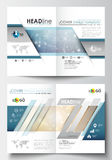 Business templates for brochure, magazine, flyer, booklet or report. Cover design template, easy editable blank, flat Royalty Free Stock Photo
