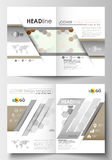 Business templates for brochure, magazine, flyer, booklet or report. Cover design template, easy editable, flat layout Stock Photo
