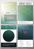 Business templates for brochure, magazine, flyer, booklet, report. Cover design template, vector layout, A4. Chemistry Stock Photography