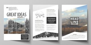 Business templates for brochure, magazine, flyer, booklet, report. Cover design template, vector layout in A4 size. Business templates for brochure, magazine stock illustration
