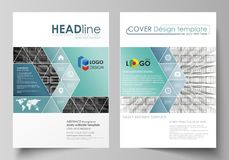 Business templates for brochure, magazine, flyer, booklet, report. Cover design template, vector layout in A4 size. Business templates for brochure, magazine royalty free illustration