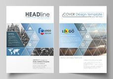 Business templates for brochure, magazine, flyer, booklet, report. Cover design template, vector layout in A4 size Stock Images