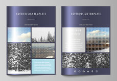 Business templates for brochure, magazine, flyer, booklet, report. Cover design template, vector layout in A4 size Stock Image
