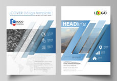 Business templates for brochure, magazine, flyer, booklet, report. Cover design template, vector layout in A4 size Royalty Free Stock Photos