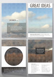 Business templates for brochure, magazine, flyer, booklet, report. Cover design template, vector layout in A4 size Royalty Free Stock Images