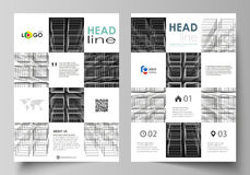 Business templates for brochure, magazine, flyer, booklet, report. Cover design template, vector layout in A4 size. Business templates for brochure, magazine Royalty Free Stock Image