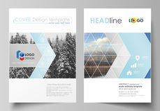 Business templates for brochure, magazine, flyer, booklet, report. Cover design template, vector layout in A4 size Stock Photography