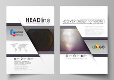 Business templates for brochure, magazine, flyer, booklet, report. Cover design template, vector layout in A4 size. Dark Royalty Free Stock Photos