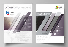 Business templates for brochure, magazine, flyer, booklet, report. Cover design template, vector layout in A4 size. Dark Stock Photography