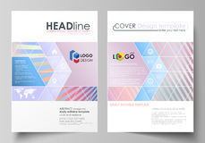 Business templates for brochure, magazine, flyer, booklet or report. Cover template, abstract vector layout in A4 size Royalty Free Stock Photo