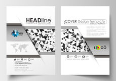 Business templates for brochure, magazine, flyer, booklet, report. Cover template, easy editable blank Royalty Free Stock Images