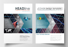 Business templates for brochure, magazine, flyer, booklet or report. Cover template, flat layout in A4 size. Abstract Royalty Free Stock Image