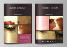 Business templates for brochure, magazine, flyer. Cover design template, abstract vector layout in A4 size. Romantic Stock Photos