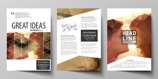 Business templates for brochure, magazine, flyer. Cover design template, abstract vector layout in A4 size. Romantic Stock Image