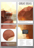 Business templates for brochure, magazine, flyer. Cover design template, abstract vector layout in A4 size. Romantic Royalty Free Stock Photo