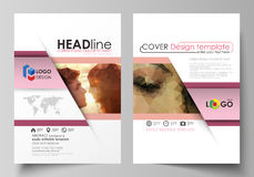 Business templates for brochure, magazine, flyer. Cover design template, abstract vector layout in A4 size. Romantic Royalty Free Stock Photos