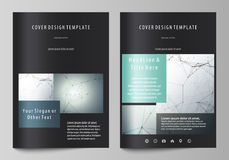Business templates for brochure, magazine, flyer. Cover design template, vector layout in A4 size. Genetic and chemical Royalty Free Stock Photo