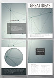 Business templates for brochure, magazine, flyer. Cover design template, vector layout in A4 size. Genetic and chemical Royalty Free Stock Photography