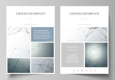 Business templates for brochure, magazine, flyer. Cover design template, vector layout in A4 size. Genetic and chemical Royalty Free Stock Photos