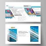 Business templates in HD format for presentation slide  Royalty Free Stock Photos