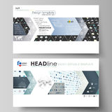 Business templates in HD format for presentation slides. Easy editable abstract layouts in flat style. Soft color dots Royalty Free Stock Photo