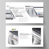 Business templates in HD format for presentation slides. Easy editable abstract vector layouts in flat design. Simple Stock Image