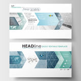 Business templates in HD format for presentation slides. Easy editable layouts in flat design. Abstract blue or gray. Business templates in HD format for Stock Images