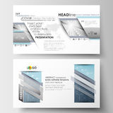 Business templates in HD format for presentation slides. Easy editable layouts in flat design. Abstract blue or gray. Business templates in HD format for Stock Photos