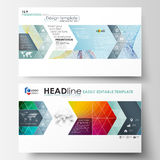 Business templates in HD format for presentation slides. Easy editable layouts. In flat style, vector illustration. Colorful design background with abstract Royalty Free Stock Photos